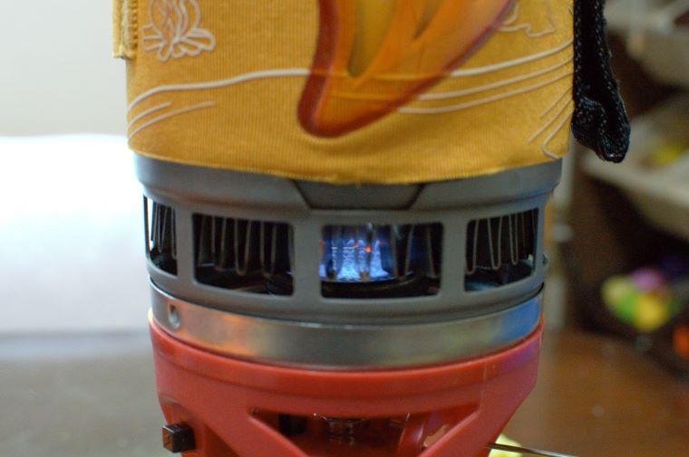 フラックスリングが熱を効率的にコッヘルに伝える