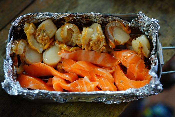 メスティン燻製海鮮