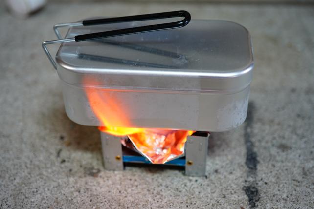 メスティン自動炊飯