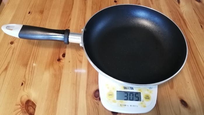 ダイソーフライパン重量