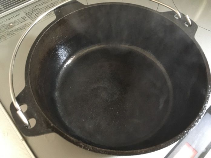 ダッチオーブン シーズニング IH