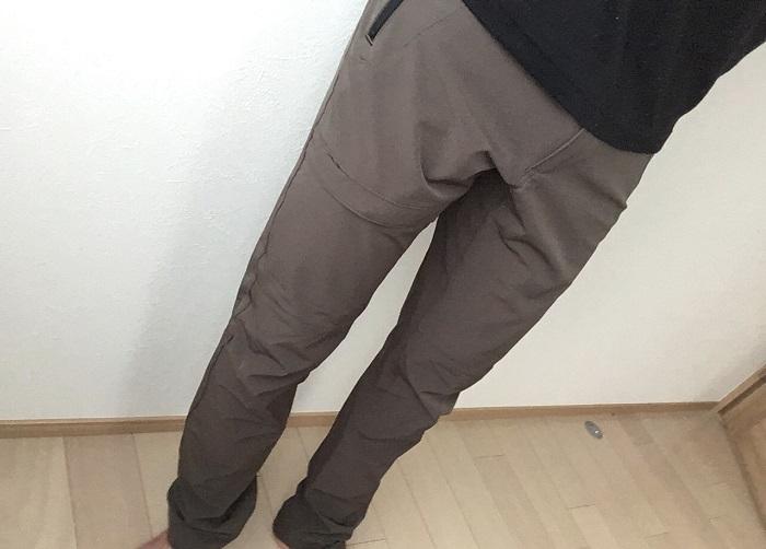 エアロストレッチクライミングパンツ 履き心地