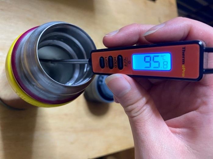 サーモス山専ボトル保温性