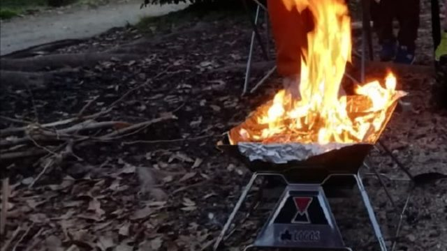 ロゴス焚火台