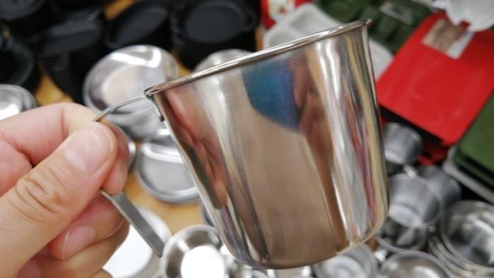 100均コーヒーステンレスマグカップ
