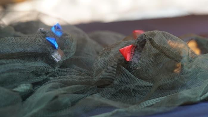 キャンプ 蚊帳