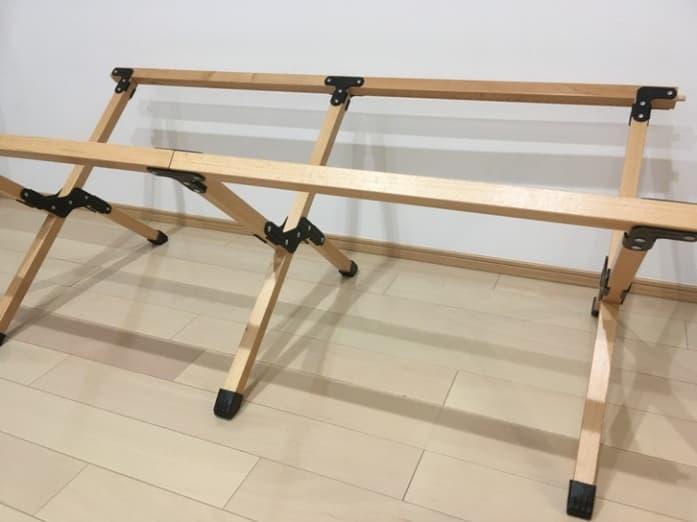 ウッドロールトップテーブル