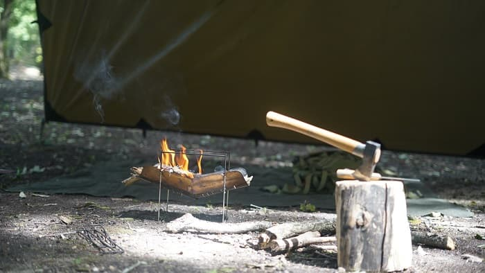 DDタープ 焚火