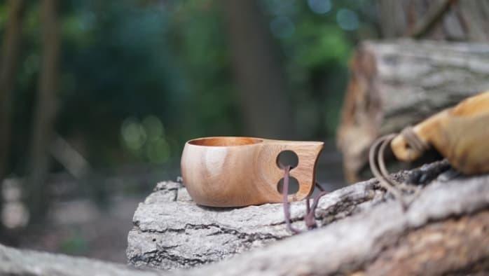 キャンプ マグカップ 木