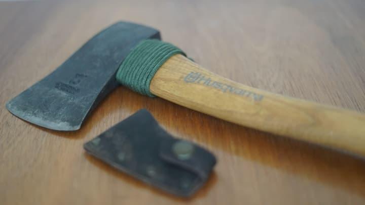 ハスクバーナ手斧 ネックガード
