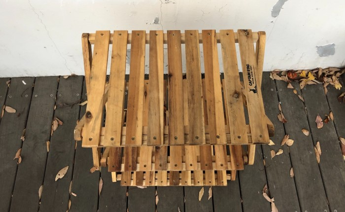 折りたたみ木製ラック 天板
