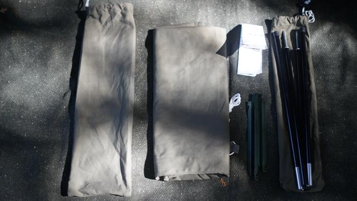 バンドック 焚き火リフレクター 内容物