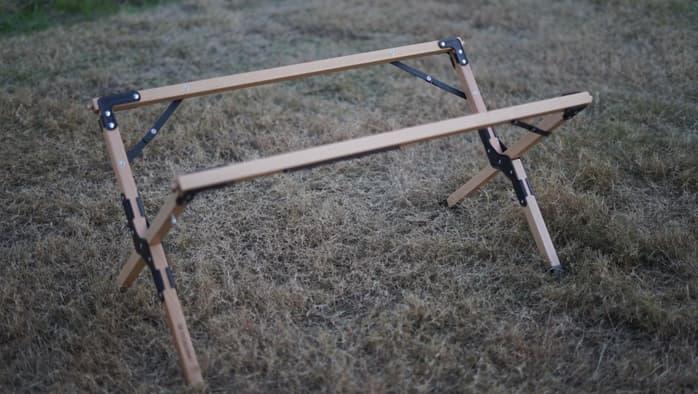 ハイランダーウッドロールトップテーブル 組み立て