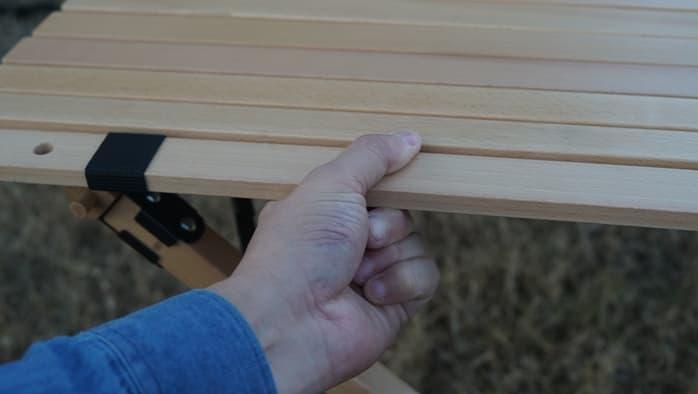 ハイランダーウッドロールトップテーブル 天板 短い