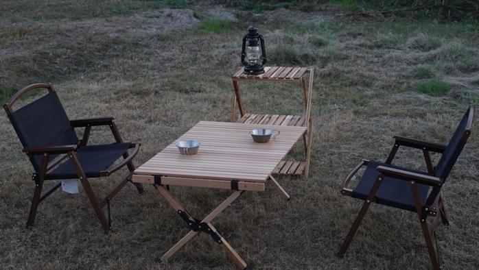 ハイランダーウッドロールトップテーブル2 サイズ
