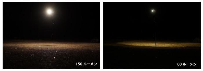 LEDライト 明るさ比較