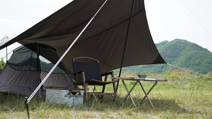 いつかのタープ ソロキャンプ