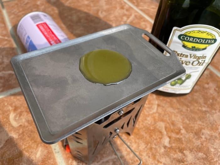 セリアミニ鉄板 カラ焼