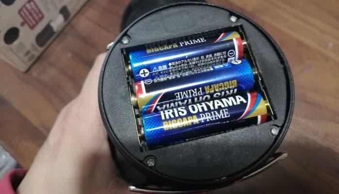100均 ライト 電池 3本
