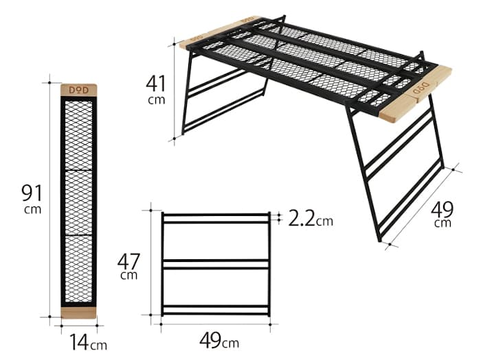 DODテキーラテーブル サイズ