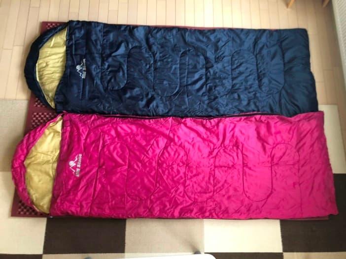 2人分の寝袋がすっぽり