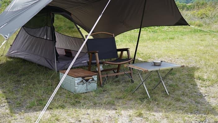 ソロキャンプ タープ 前室