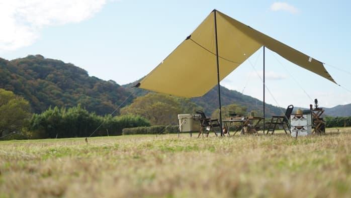 ソロキャンプ タープ サイズ