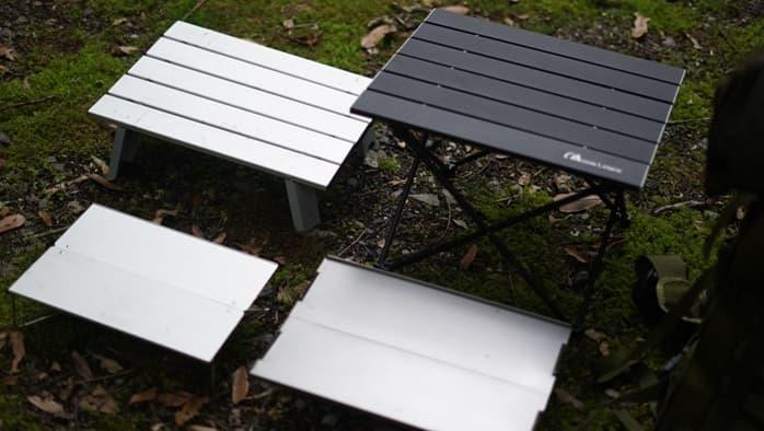 ソロキャンプテーブルのサイズは?