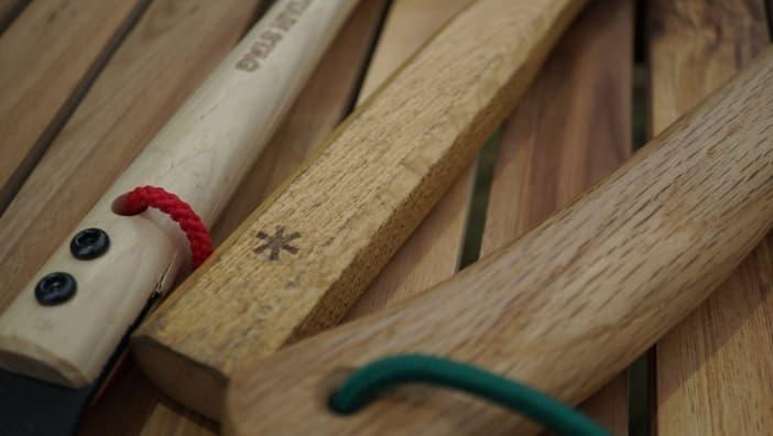 ペグハンマー 柄 木材