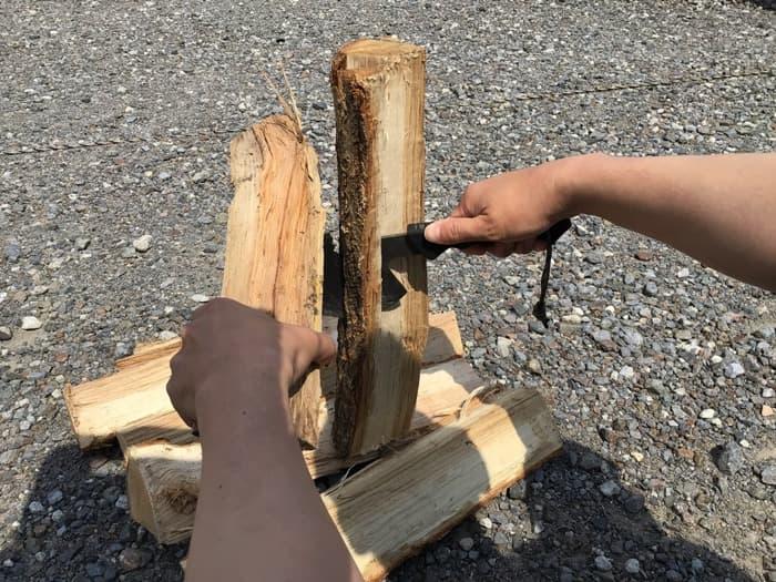 燕三条乃斧 広葉樹 バトニング