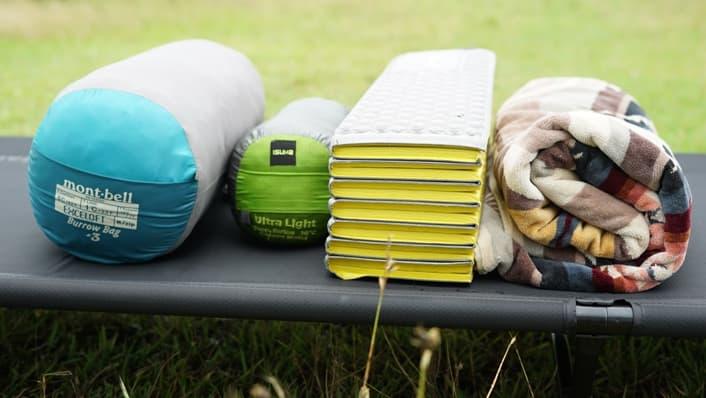 夏キャンプ 寝袋