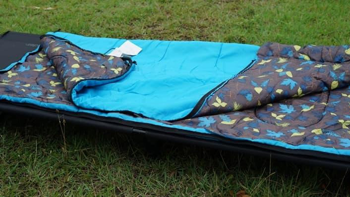 夏キャンプ 寝袋 封筒型